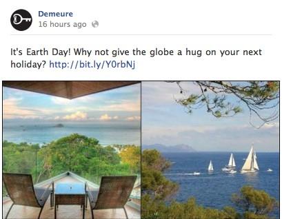 Earth Day Demeure Travel