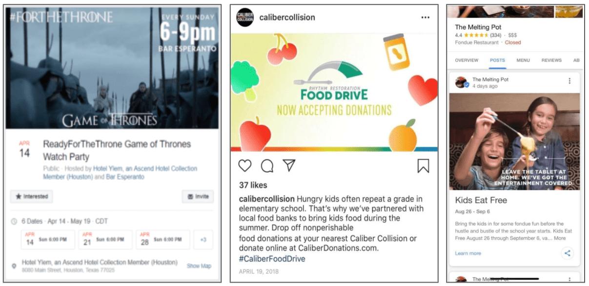 Local content idea examples