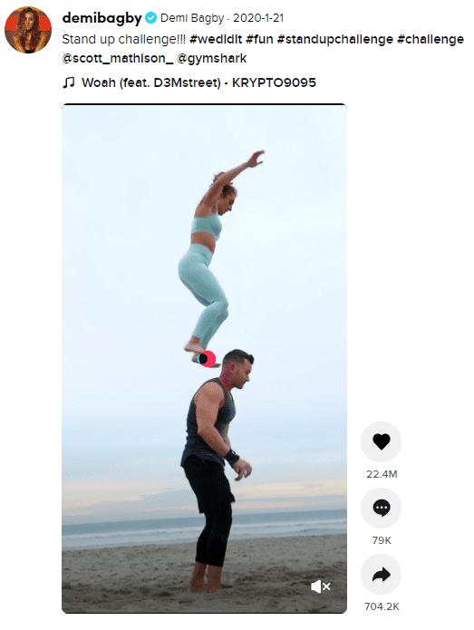 Screenshot of a tiktok post.