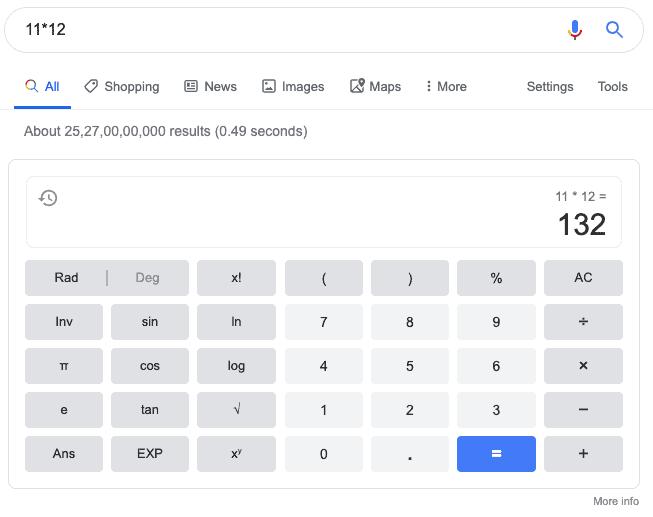 zero click calculator